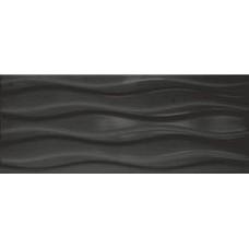 Плитка настенная 20x50 Элегия 1Т черный