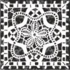 Бордюр напольный 9,8x9,8 Органза 5 черный