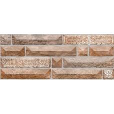 Плитка настенная 20x50 Вавилон 4 тип 1 терракотовый